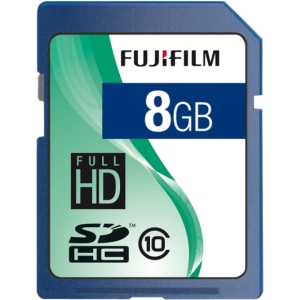 Fujifilm 600008927 8 GB Secure Digital High Capacity (SDHC) - 1 Card - Class 10