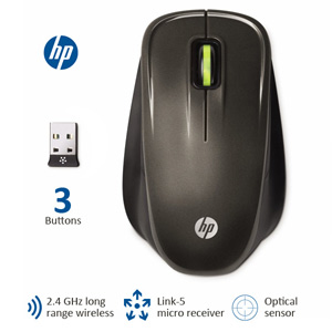 HP Link-5 Wireless Optical Comfort Mouse (Refurbished)