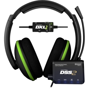 Turtle Beach Ear Force DXL1 Headset - Surround - Sub-mini phone - Wired - 20 Hz - 20 kHz - Over-the-head - Binaural - Ear-cup - 16 ft Cable - Condenser Microphone
