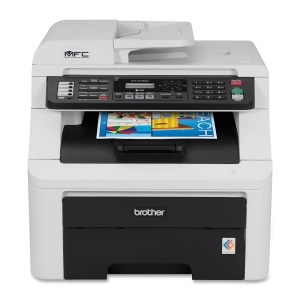 Brother MFC-9125CN LED Multifunction Printer - Color - Plain Paper Print - Desktop - Printer, Scanner, Copier, Fax - 19 ppm Mono/19 ppm Color Print - 2400 x 600 dpi Print - 19 cpm Mono/19 cpm Color Copy LCD - 1200 dpi Optical Scan - Manual Duplex Print -