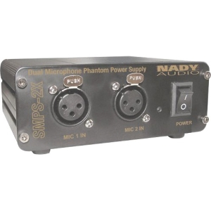 Nady 2-Channel 48V Phantom Power Supply - External - 18 V AC