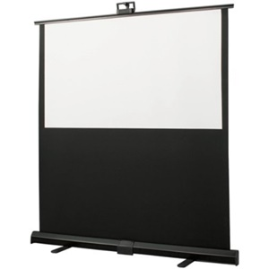 "Draper Piper Portable Projection Screen - 27"" x 48"" - Fiberglass Matt White - 55"" Diagonal"