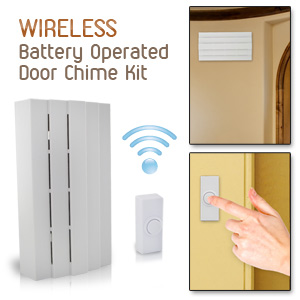 Heath Zenith SL-6255-WH Wireless Battery Operated Door Chime Kit, White