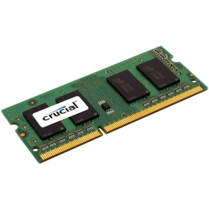 Crucial 4GB DDR3 SDRAM Memory Module - 4 GB - DDR3 SDRAM - 1333 MHz DDR3-1333/PC3-10600 - Non-ECC - Unbuffered - 204-pin SoDIMM