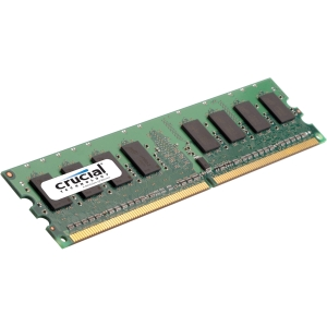 Crucial 4GB DDR3 SDRAM Memory Module - 4 GB - DDR3 SDRAM - 1600 MHz DDR3-1600/PC3-12800 - ECC - Unbuffered - 240-pin DIMM