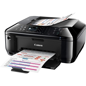 Canon PIXMA MX512 Inkjet Multifunction Printer - Color - Photo Print - Desktop - Printer, Copier, Scanner, Fax - 9.7 ipm Mono/5.5 ipm Color Print (ISO) - 46 Second Photo - 4800 x 1200 dpi Print ipm Mono/4.7 ipm Color Copy (ISO) LCD - 1200 dpi Optical Scan