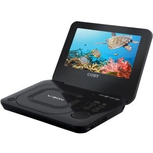 "Coby TFDVD7011 7"" Portable DVD Player -  DVD-RW, DVD+RW, CD-RW - 2.30 Hour"