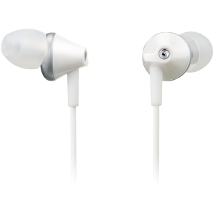 Panasonic RP-HJE290 Earphone - Stereo - White - Mini-phone - Wired - 16 Ohm - 6 Hz 24 kHz - Gold Plated - Earbud - Binaural - Open - 3.94 ft Cable