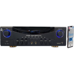 PyleHome PT590AU A/V Receiver - 350 W RMS - 5.1 Channel - Dolby Pro Logic - AM, FM - HDMI - 4 x HDMI In - 1 x HDMI Out - USB