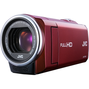 "JVC Everio GZ-E10 Digital Camcorder - 2.7"" LCD - CMOS - Full HD - Red - H.264/MPEG-4 AVC - 40x Optical Zoom - 200x Digital Zoom - Electronic (IS) - Full HD - Microphone, Speaker - HDMI - USB - Secure Digital Extended Capacity (SDXC), Secure Digital (SD) C"