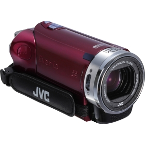 "JVC Everio GZ-E200 Digital Camcorder - 3"" - Touchscreen LCD - CMOS - Full HD - Red - 16:9 - H.264/MPEG-4 AVC - 40x Optical Zoom - 200x Digital Zoom - Full HD - Microphone, Speaker - HDMI - USB - Secure Digital Extended Capacity (SDXC), Secure Digital (SD)"