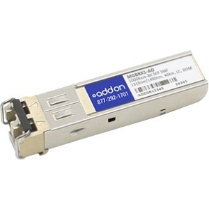 AddOn - Network Upgrades Cisco/Linksys MGBBX1 Compatible 1000BASE-BXU SFP - 1 x 1000Base-X