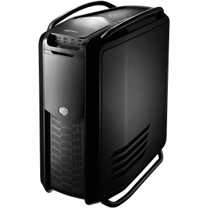 Cooler Master Cosmos II RC-1200-KKN1 System Cabinet - Full-tower - Midnight Black - Aluminum, Steel, Rubber - 16 x Bay - 5 x Fan