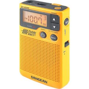 Sangean DT-400W Weather & Alert Radio - with Child Abduction Emergency (Amber Alert), Weather Disaster - FM, AM - 7 Weather - Handheld