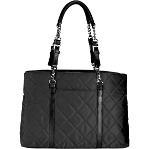 "WIB Metro Carrying Case (Tote) for 17"" Notebook - Black - Quilted - Nylon, Leather"