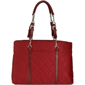 "WIB Metro Carrying Case (Tote) for 17"" Notebook - Scarlet Red - Quilted - Nylon, Leather"