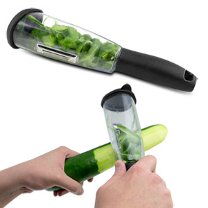 Viatek Veggie-Peel Vegetable Peeler with Built-in Chamber
