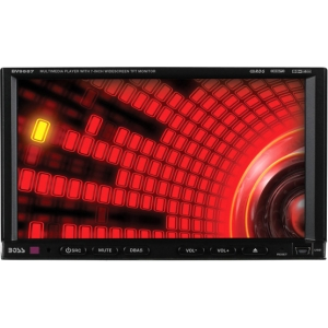 "Boss BV9557 Car DVD Player - 7"" Touchscreen LCD - 340 W RMS - Double DIN - DVD Video, Video CD, SVCD - FM, AM - Secure Digital (SD) - Auxiliary Input - 2 x USB - 800 x 480 - iPod/iPhone Compatible - In-dash"