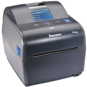 Intermec PC43d Direct Thermal Printer - Monochrome - Desktop - Label Print - 6 in/s Mono - 300 dpi - USB - LCD