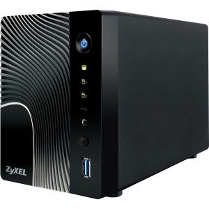 Zyxel NSA325 2-Bay Power Plus Media Server - 1 x 1.60 GHz - Type A USB, Type A USB, RJ-45 Network