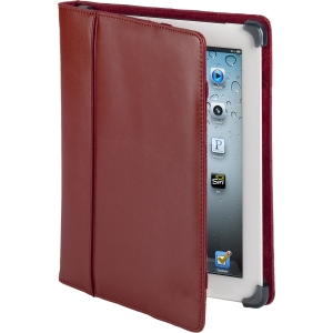 Cyber Acoustics Carrying Case for iPad - Red - Leather