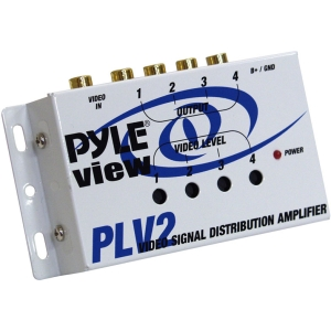 Pyle 1 Into 4 Mobile Video Signal Distribution Amplifier - 1 x 4