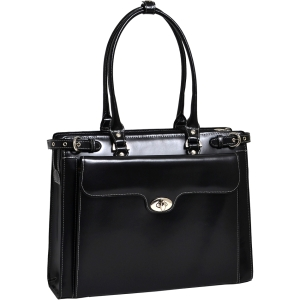McKlein USA W Series Winnetka Leather Women's Briefcase (Black)