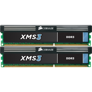 Corsair XMS3 16GB DDR3 SDRAM Memory Module - 16 GB (2 x 8 GB) - DDR3 SDRAM - 1600 MHz DDR3-1600/PC3-12800 - Non-ECC - Unbuffered - 240-pin DIMM - Retail