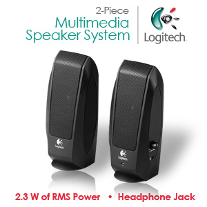 Logitech S120 2-Piece 2 Channel Multimedia Speaker System w/Headphone Jack *Open Box*