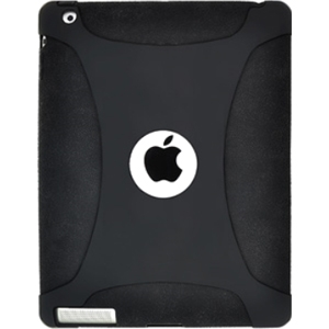 Amzer Silicone Skin Jelly Case - Black For The new iPad - iPad - Black - Silicone