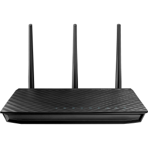 Asus RT-N66U Wireless Router - IEEE 802.11n - 3 x Antenna - ISM Band - UNII Band - 450 Mbps Wireless Speed - 4 x Network Port - 1 x Broadband Port - USB Desktop
