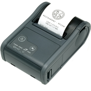 Epson Mobilink TM-P60 Direct Thermal Printer - Monochrome - Mobile - Receipt Print - 3.15 in/s Mono - 203 dpi - Bluetooth - Battery Included