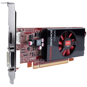 HP FirePro V3900 Graphic Card - 1 GB DDR3 SDRAM - PCI Express 2.1 x16 - Half-length/Full-height - 2560 x 1600 - DisplayPort - DVI