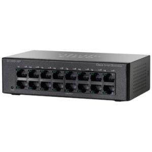 Cisco Unmanaged Desktop Switch - 16 Ports - 8 x POE - 8 x RJ-45 - 10/100Base-TX - PoE Ports - Desktop, Wall Mountable