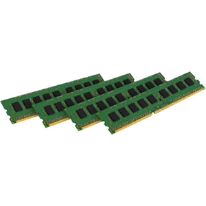 Kingston 16GB 1600MHz ECC Kit of 4 - 16 GB (4 x 4 GB) - DDR3 SDRAM - 1600 MHz DDR3-1600/PC3-12800 - ECC - Unbuffered - 240-pin DIMM