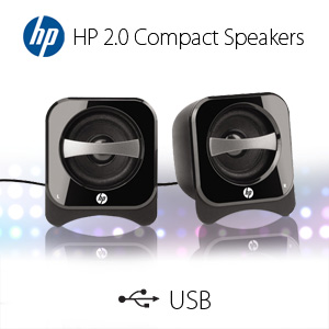 HP 2.0 Compact Stereo Speakers (BR387AA#ABA)