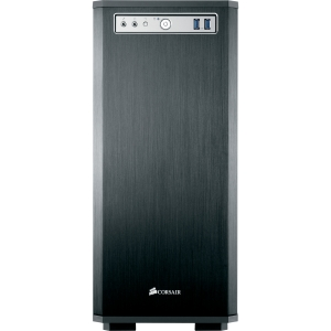 Corsair Obsidian 550D System Cabinet - Mini-tower - Black - Steel, Aluminum - 10 x Bay - 3 x Fan