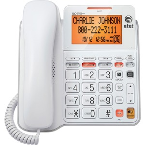 AT&T CL4940 Standard Phone - White - 1 x Phone Line - Answering Machine - Caller ID - Speakerphone