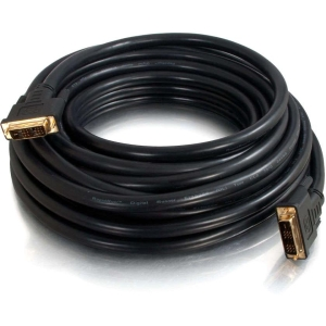 C2G pro 41233 DVI Cable - DVI - 25 ft - 1 x DVI-D (Single-Link) Male Digital Video - 1 x DVI-D (Single-Link) Male Digital Video - Gold-plated Connectors - Black