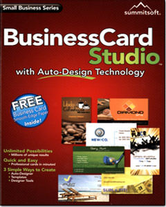 Business Card Studio with Auto-Design Technology
