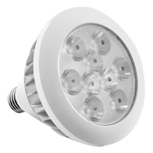 Aluratek 17W Warm White PAR38 LED Energy Saving Replacement Light Bulb - Warm White - 17 W - 110 V AC - E26, E27