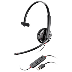 Plantronics Blackwire C310 Headset - Mono - USB - Wired - 20 Hz - 20 kHz - Over-the-head - Monaural - Semi-open - Noise Cancelling Microphone