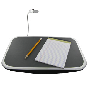 Perfect Solutions Lap Desk with Adjustable Light - PS5287BK