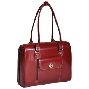 "McKleinUSA Marycrest Carrying Case (Tote) for 15.4"" Notebook - Red - Leather"