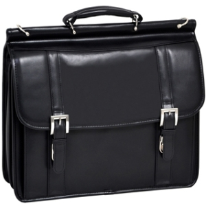 "McKleinUSA Scottsdale Carrying Case (Flap) for 15.4"" Notebook - Black - Cowhide Leather"