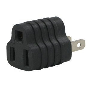 Tap Adapter - 3 Prong to 2 Prong Grounding Adapter  (15A 125V)