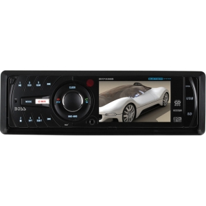 "Boss BV7338B Car DVD Player - 3.2"" LCD - 320 W RMS - Single DIN - DVD Video, Video CD, SVCD - FM, AM - Secure Digital (SD) - Bluetooth960 x 240 - iPod/iPhone Compatible - In-dash"