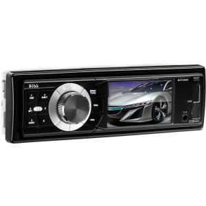 "Boss BV7280 Car Flash Video Player - 3.2"" LCD - 320 W RMS - Single DIN - AM, FM - Secure Digital (SD)960 x 240 - iPod/iPhone Compatible - In-dash"