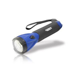Garrity G-tech LED Flashlight with SureGrip Heavy Duty Rubber Grip (Blue)
