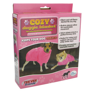 Cozy Doggie Blanket As Seen On TV in Pink (Small)